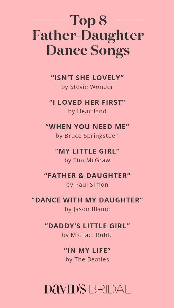 Best Father Daughter Dance Songs Wedding Ideas Tips Pinterest