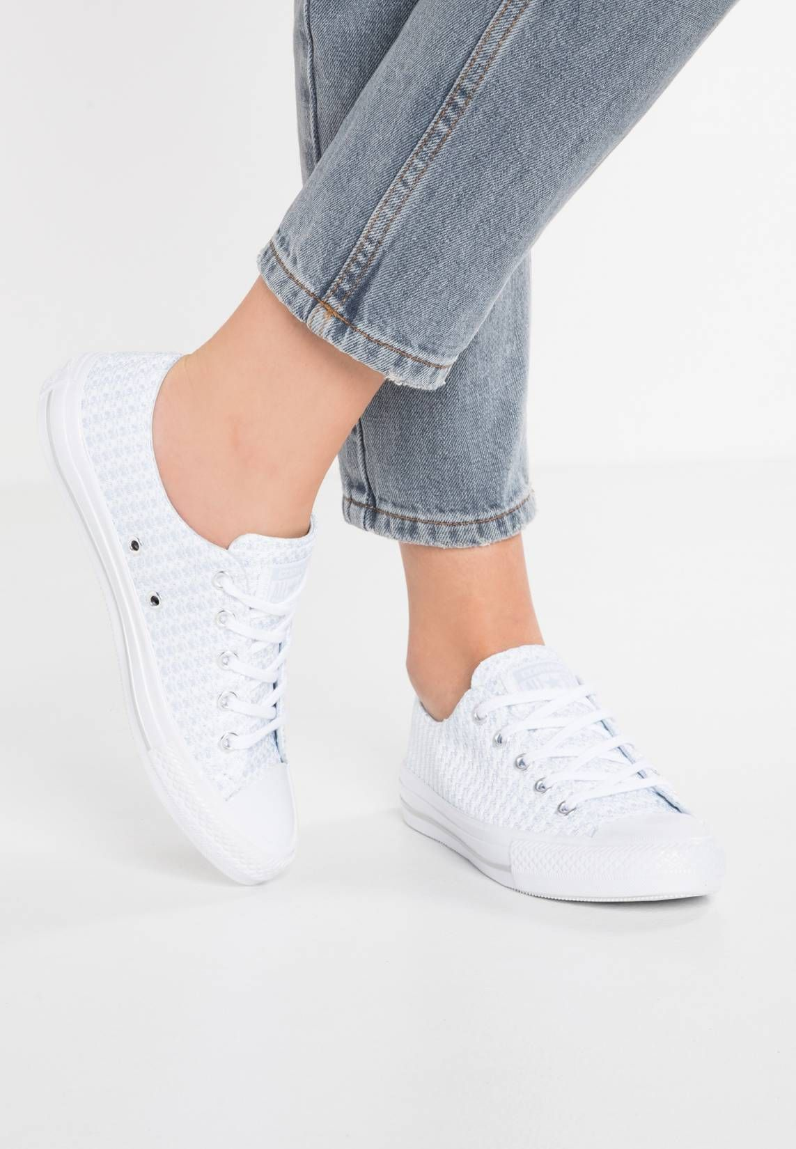 377bdae4d404 Converse. CHUCK TAYLOR ALL STAR GEMMA - Sneaker low - porpoise white mouse blau.  Sohle Kunststoff. Decksohle Textil. Innenmaterial Textil.
