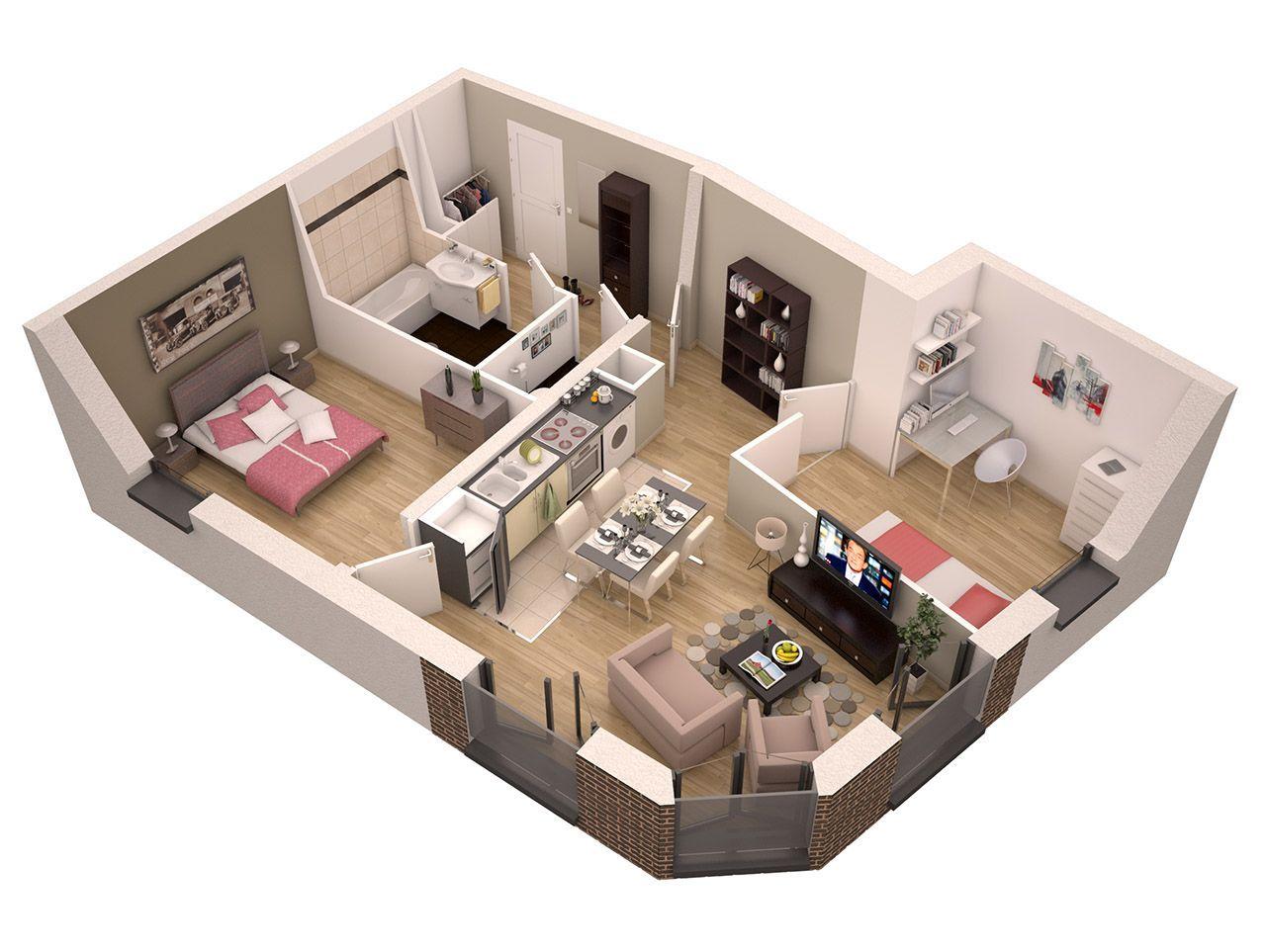 R sultat de recherche d 39 images pour plans de petits for Flat appartement design