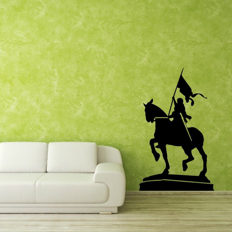 Love tales from the past? Give your indoor environ a bold look with the Warrior Queen Wall Decal and create a stunning indoor décor plan to impress your guests. The well designed wall sticker is a beauty enhancer for well painted walls or any smooth surface. SMALL   :- 15 X 24 - IN INCHES MEDIUM :- 24 X 40 - IN INCHES LARGE   :- 30 X 48 - IN INCHES