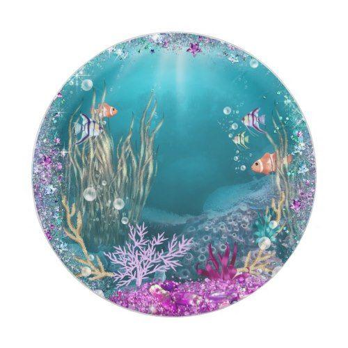 Under the Sea Paper Plates | Mermaid Birthday Party | Pinterest | Mermaid birthday  sc 1 st  Pinterest & Under the Sea Paper Plates | Mermaid Birthday Party | Pinterest ...