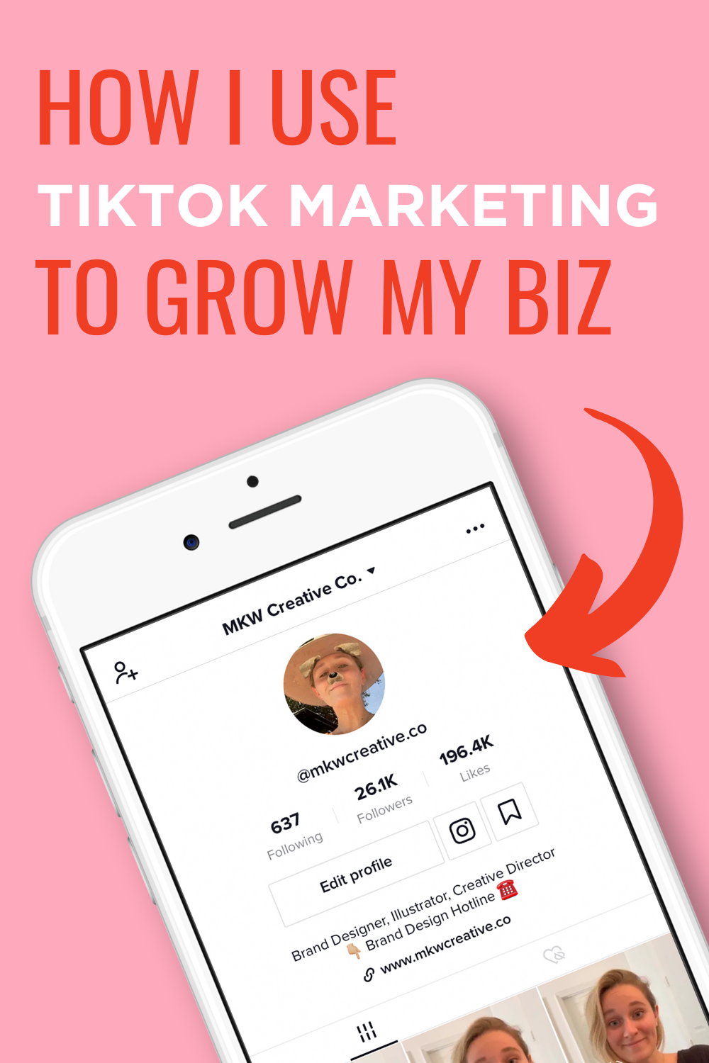 Tiktok For Business Video Training Mkw Creative Co Snapchat Marketing Snapchat Business Instagram Business