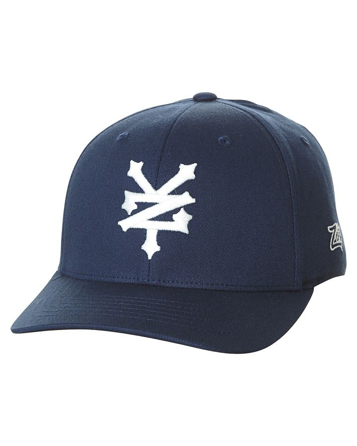 373364c9d0d Zoo York Cracker Curve Flexfit Cap Blue Cotton