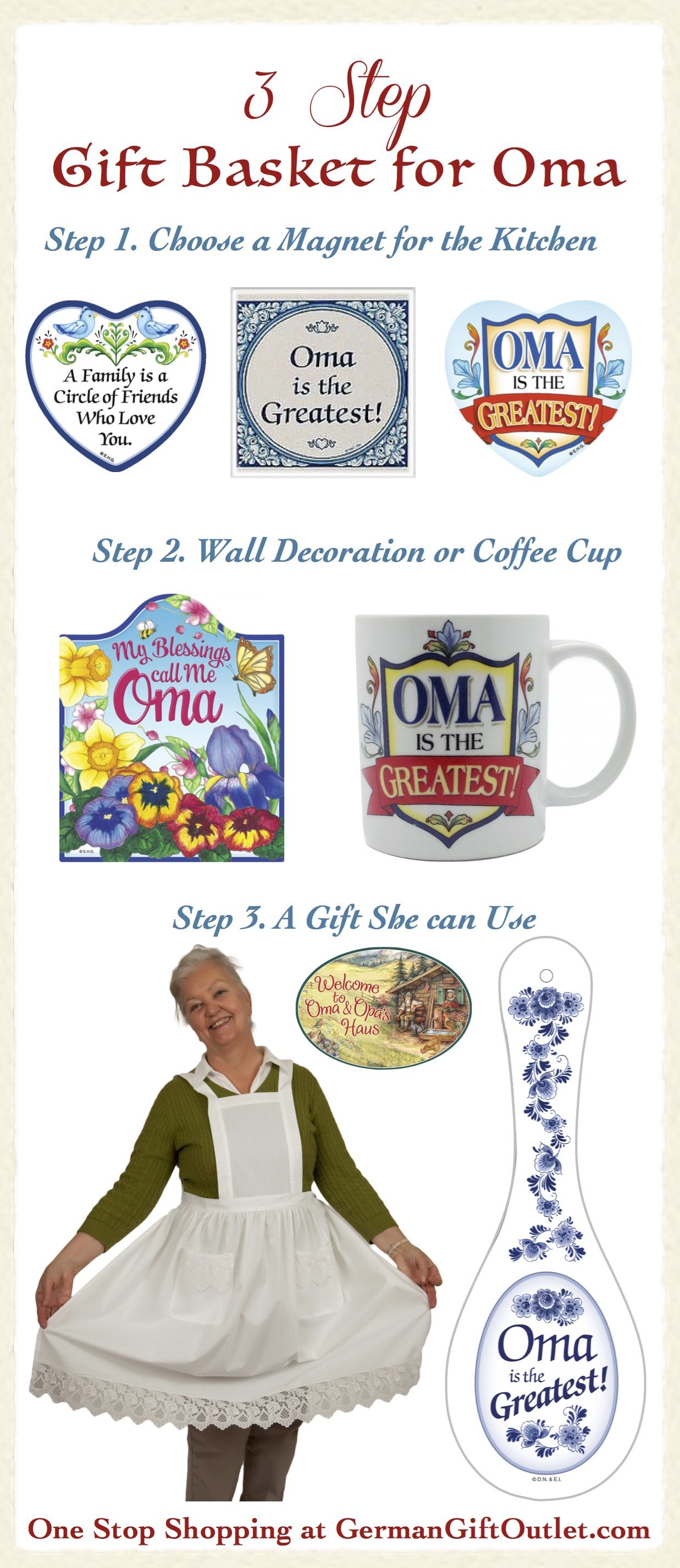 3 Step Gift Basket for Oma. DIY Gift. A gift for Grandma. Gifts for ...
