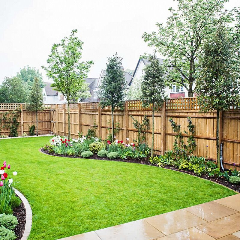 Steves favorite fence replace top trellis with horizontal privacy wandsworth urban garden design with york stone paving complicated glass and steel works designs workwithnaturefo