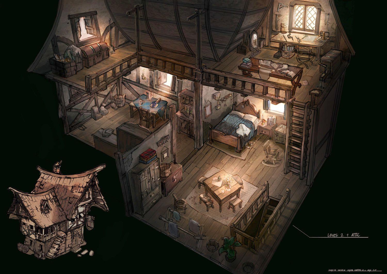 Term 3 Student Work Fantasy House Environment Concept Art Concept Art