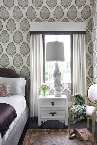 Betsy Burnham | wallpaper | bedroom