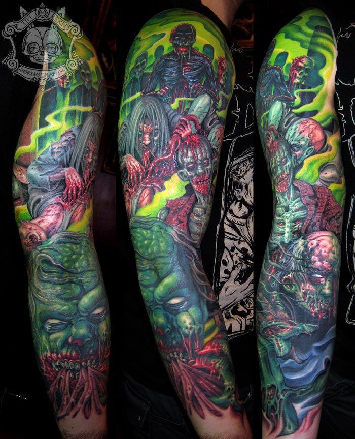 The Walking Dead Sleeve Tattoos Zombie Tattoos Tattoos