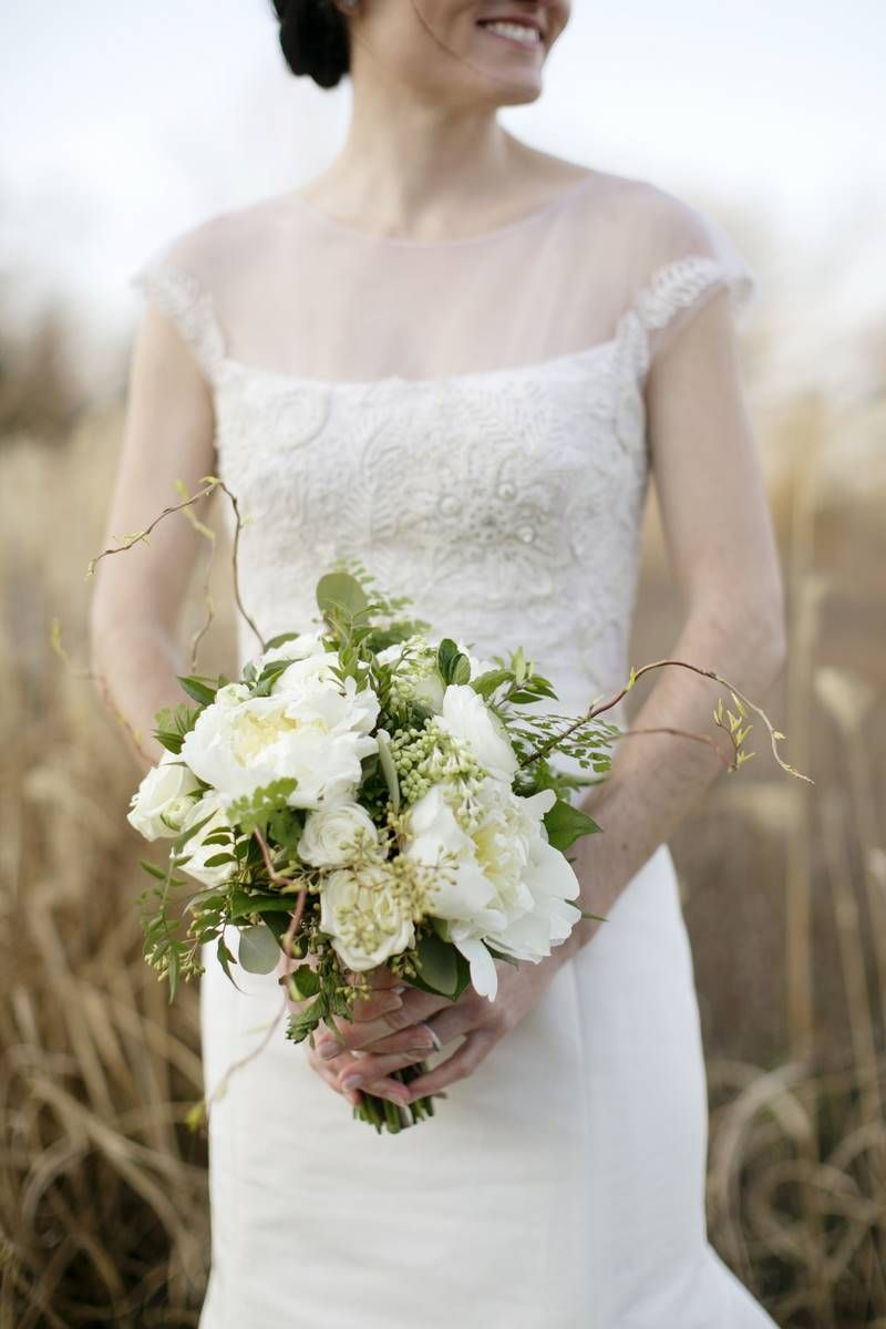 green and white #bouquet | Kristen Gardner Photography on The Lovely Find | see more on www.thelovelyfind.com...