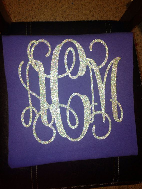 this listing is for a glitter monogram iron on this is a great way to monogram a shirt you already have you can put these small iron on letters