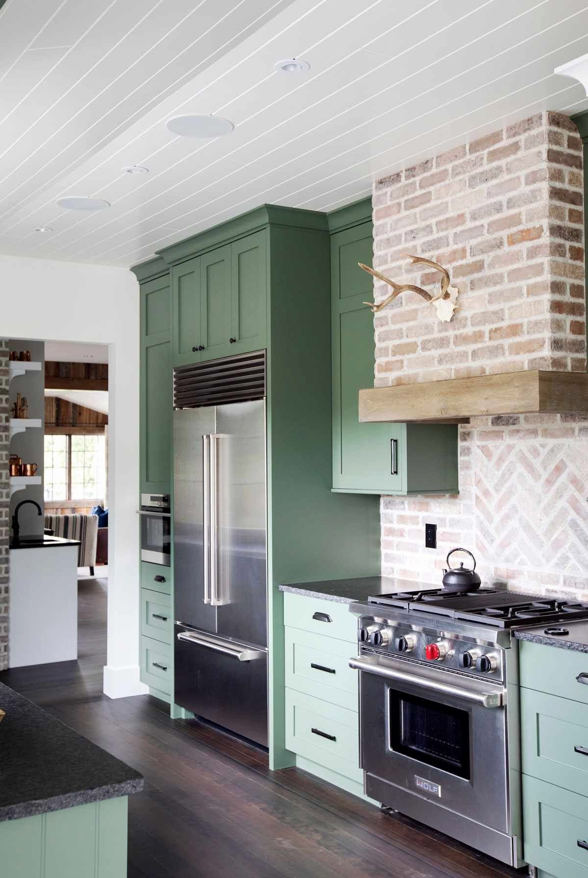 Green and Black Kitchen New Green Kitchens Ideas for A ...