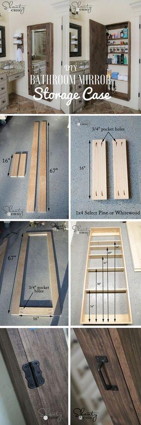 id e d coration salle de bain diy miroir de salle de bain. Black Bedroom Furniture Sets. Home Design Ideas