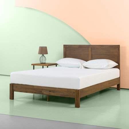 Amazon Com Zinus Ironline Metal And Wood Platform Bed With