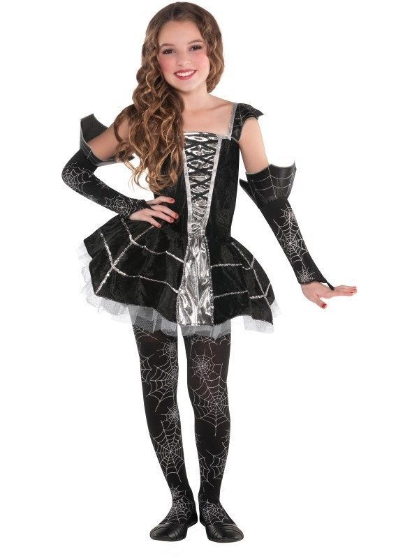 kids midnight mischief witch girls halloween fancy dress childs costume age 8 10