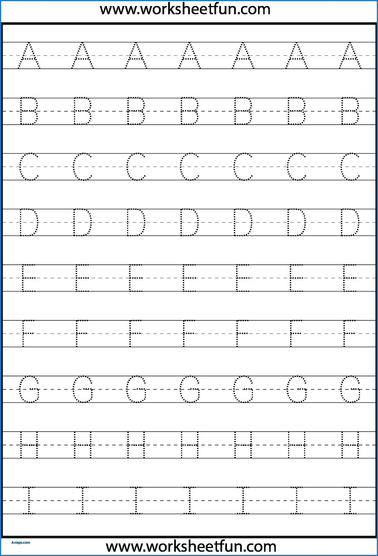 Kindergarten Letter Tracing Worksheets