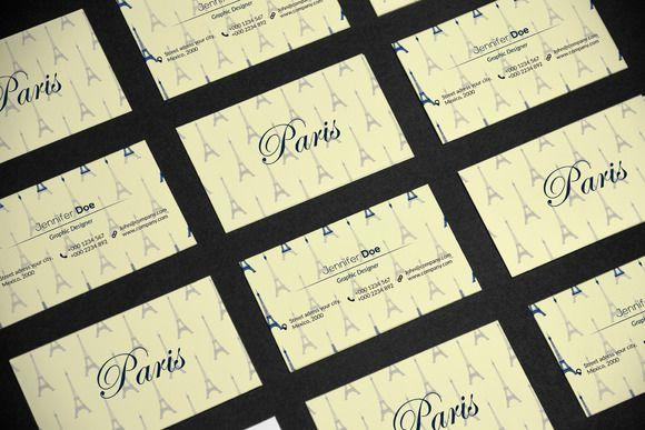 Business Card Paris  @creativework247