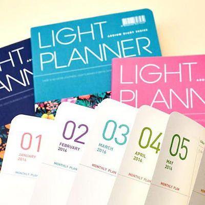 [ 2016 ardium Luz planejador diário Agendador ] Jornal planejador mensal Livro