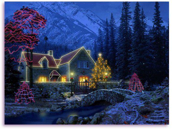 Christmas Screensavers for Windows 7 | 3D Christmas Cottage ...