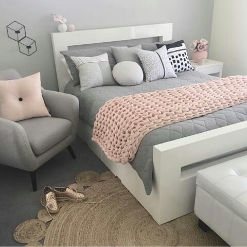 room fashion gray pink | Svefnherbergi | Pinterest | Wohnideen und ...