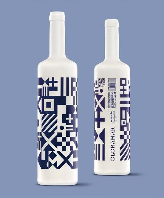 Diseño de Botella de Vino Albariño Sidecar Logroño in Packaging