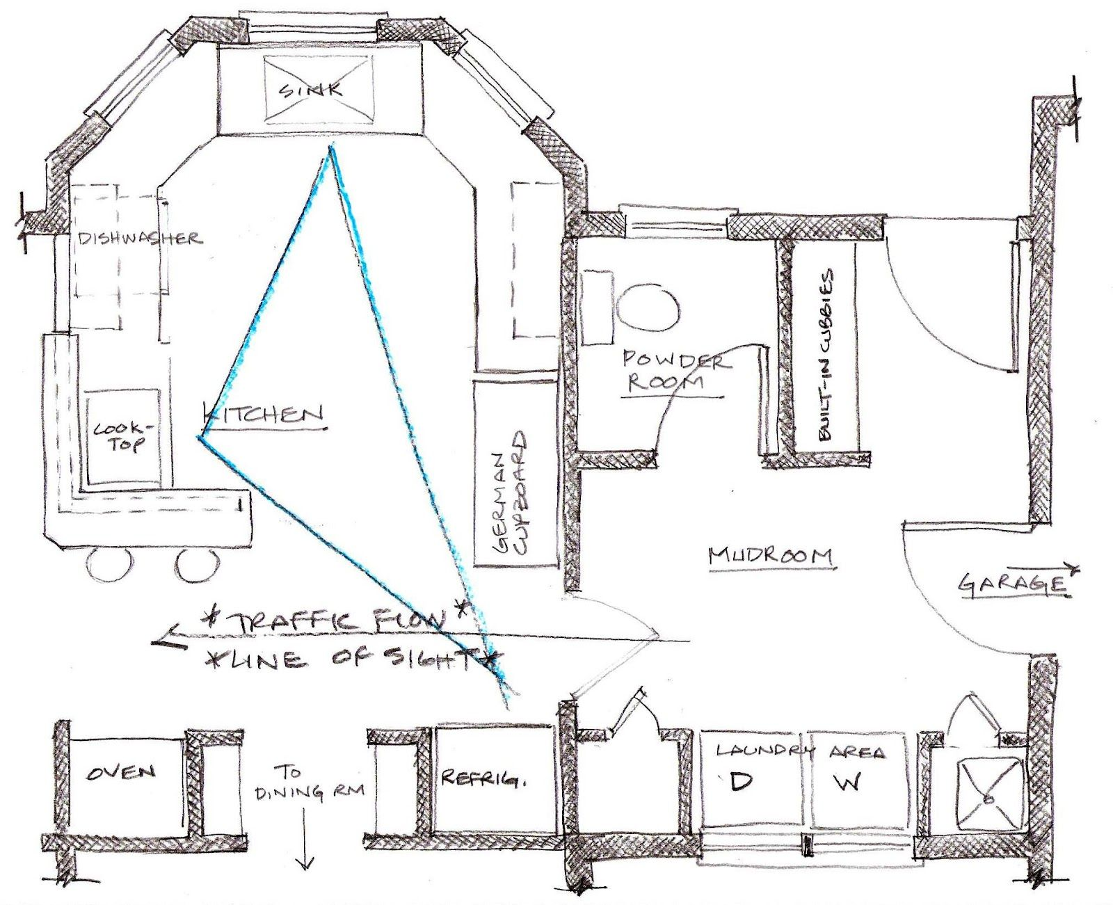 Ispirato Design The Evolution Of A Kitchen Part One Bathroom Layout Bathroom Plans Laundry Room Layouts
