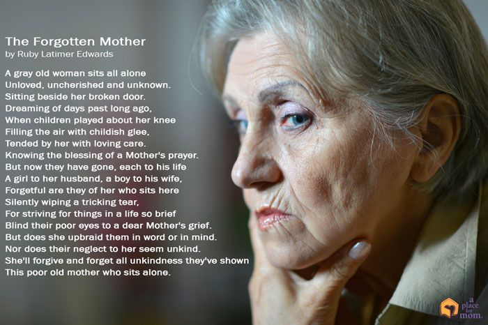 This poem from Ruby Latimer Edwards does well to show us the isolation and sadness that seniors can feel. Read more.
