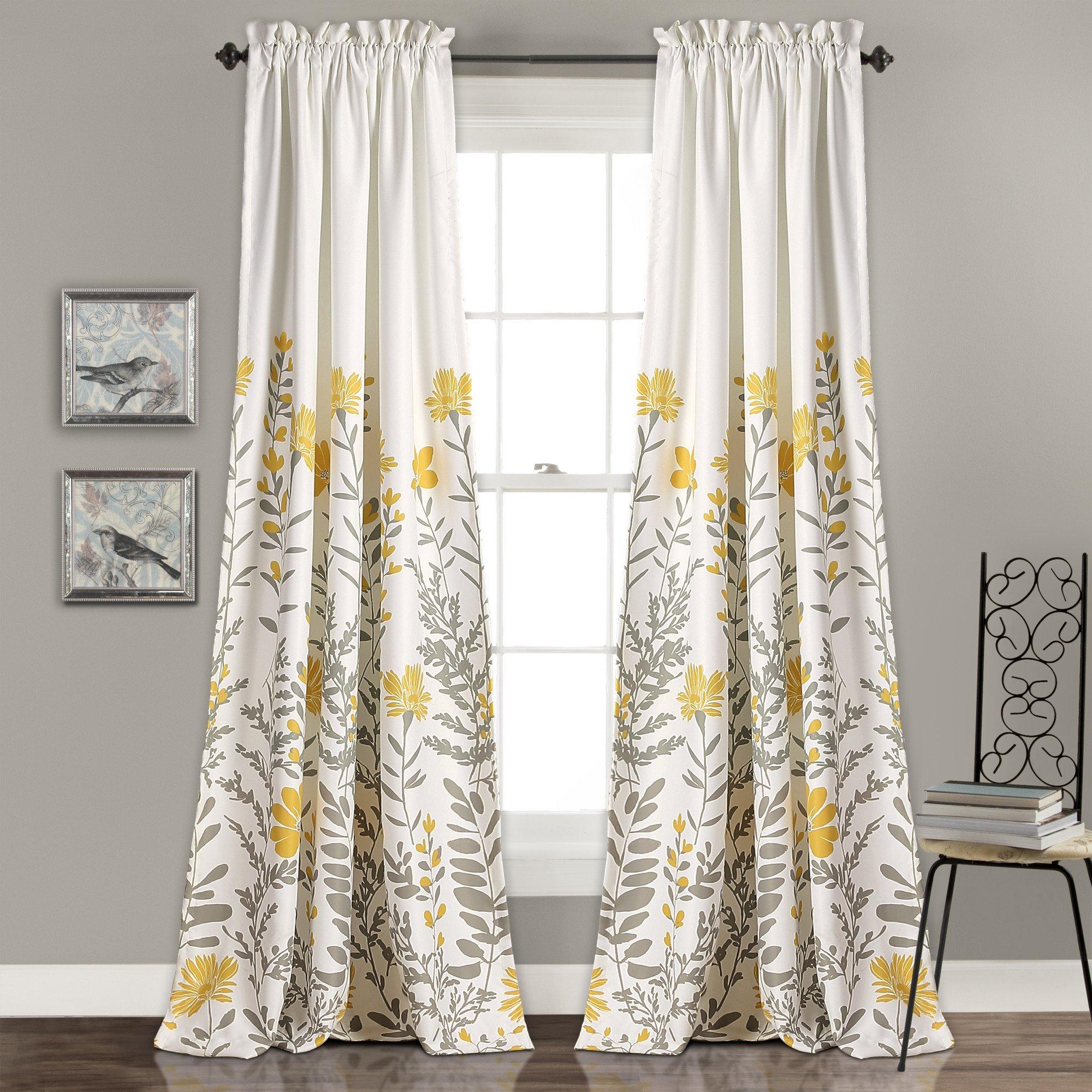 Aprile Room Darkening Window Curtain Set Room Darkening Curtains Yellow Curtains Curtains