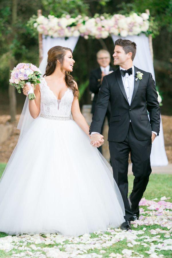 f3dd5f112b Miss USA Nia Sanchez's Convertible Wedding Dress is Everything Celebrity Wedding  Dresses, Celebrity Weddings,