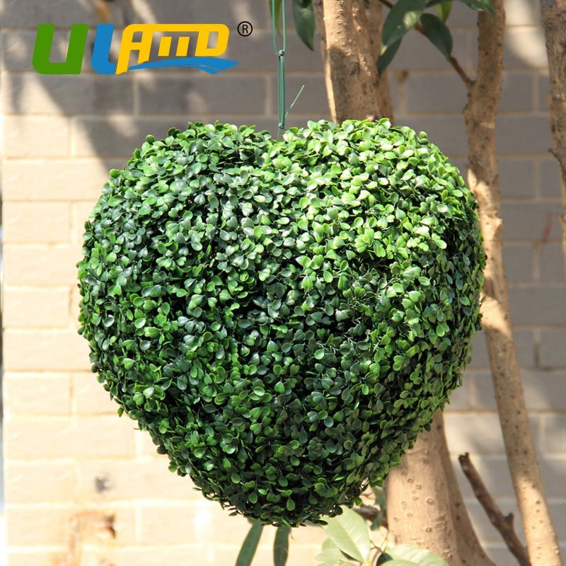 Decorative Boxwood Balls Uland Love Heart Artificial Boxwood Balls Artificial Plants Ball