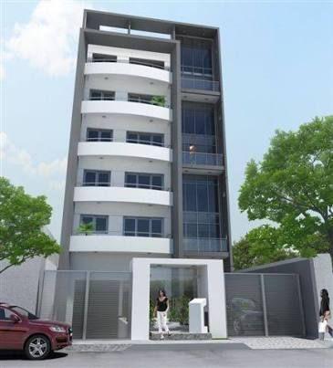 Resultado de imagen para fachadas edificios modernos 4 for Fachadas de departamentos modernos