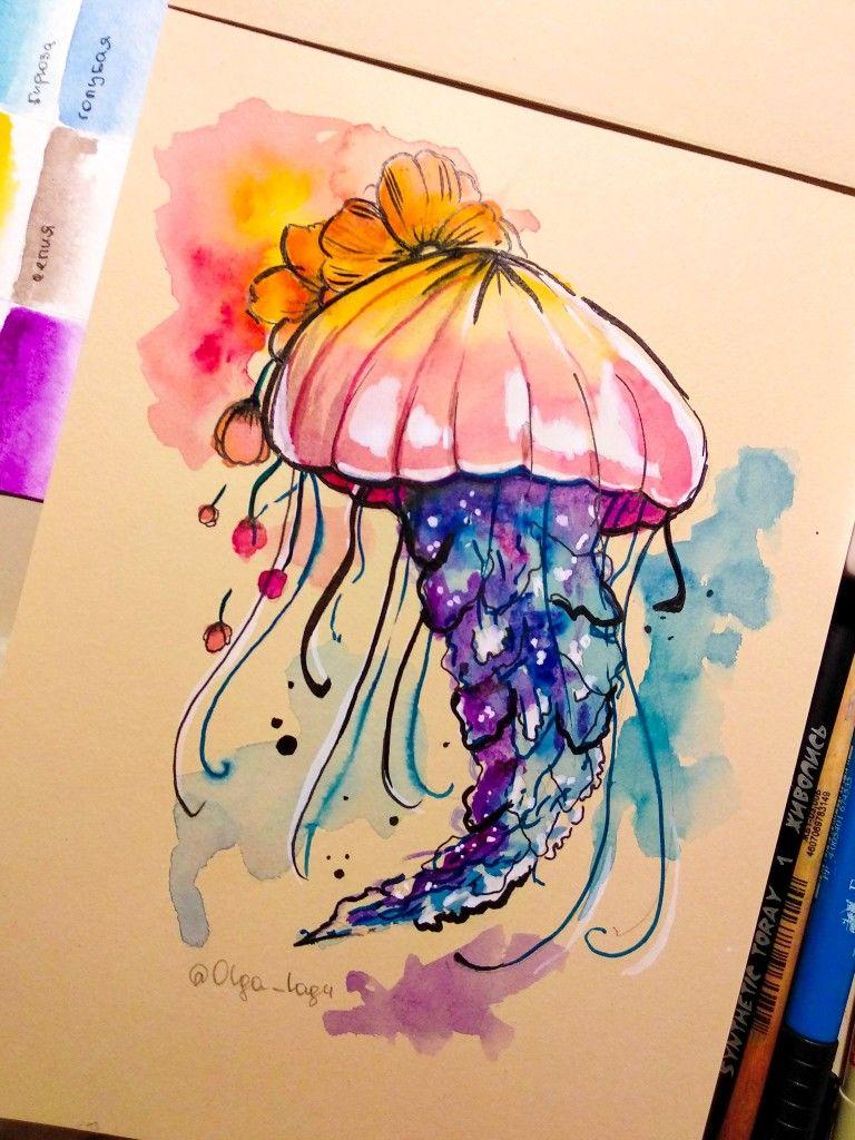 медуза акварель эскиз тату мои эскизы татуировок эскиз тату