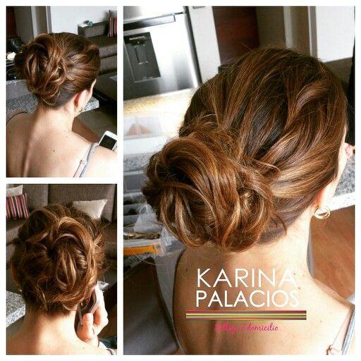 Moño recogido bajo Peinado Karina Palacios