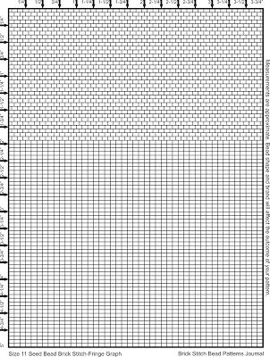 Size 11 bead Brick Stitch and Fringe Graph Paper free beading - numbered graph paper template