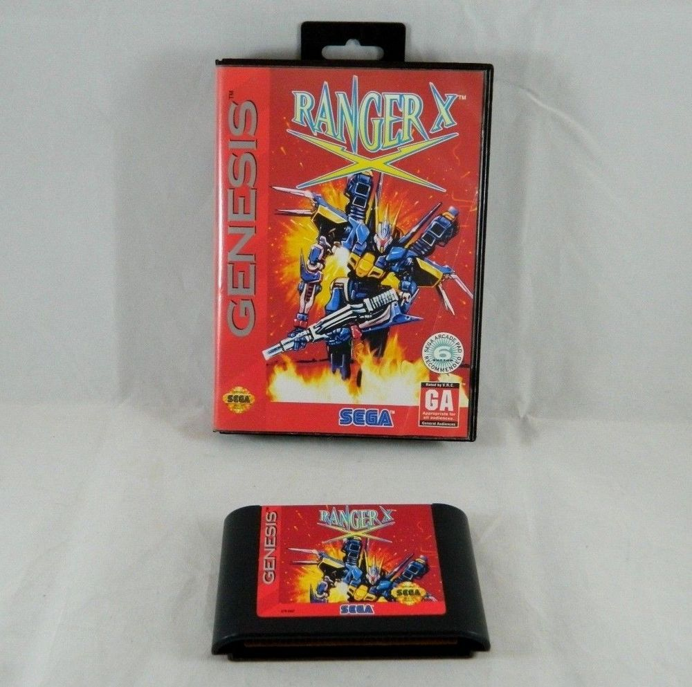 vintage 1993 sega genesis ranger x video game cartridge case artwork sega genesis genesis sega pinterest