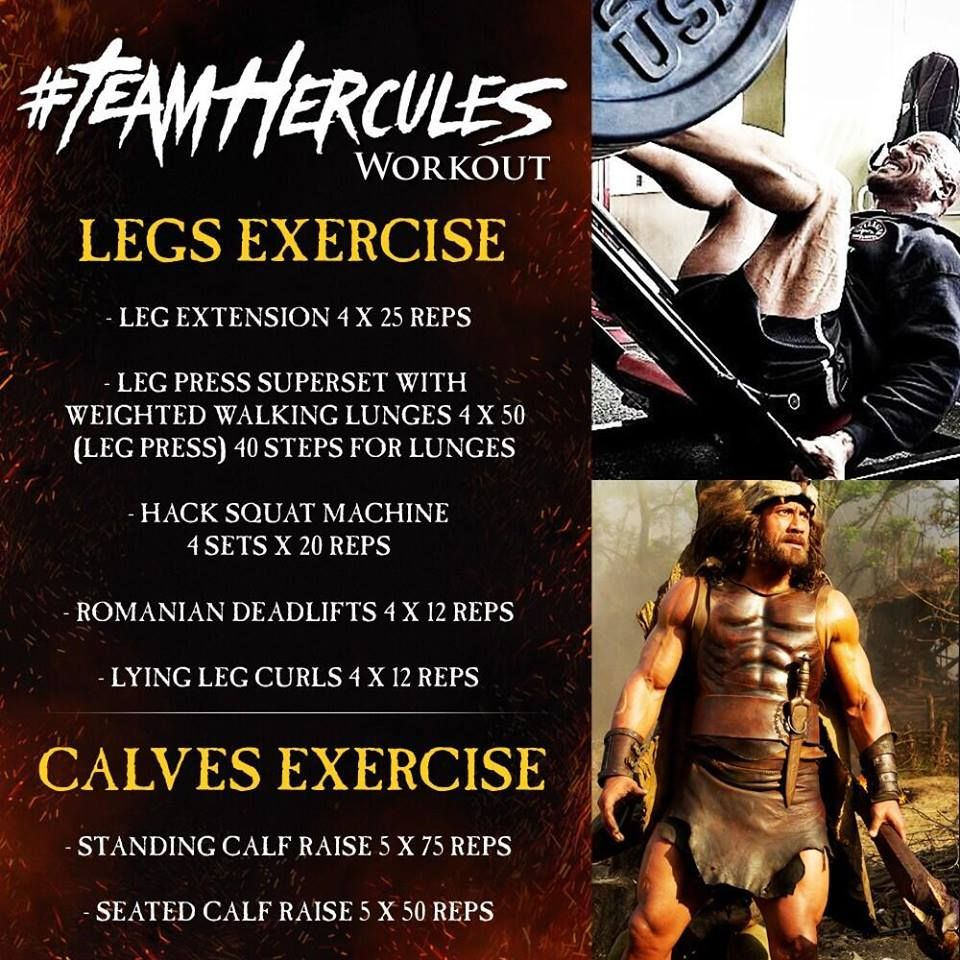 The Rock Leg Workout Routine For Hercules Movie Role Exercise Legs Killer Circuit Totally Dead Superset Use This To Maximize Growth His In