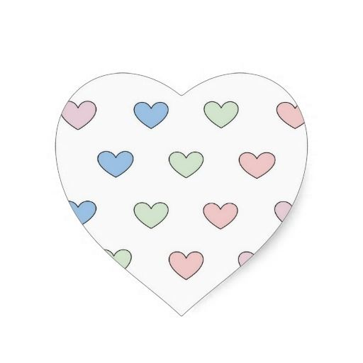Multiple #hearts heart-shaped #stickers by ArianeC from iCraftCafé  #valentinesdaystickers