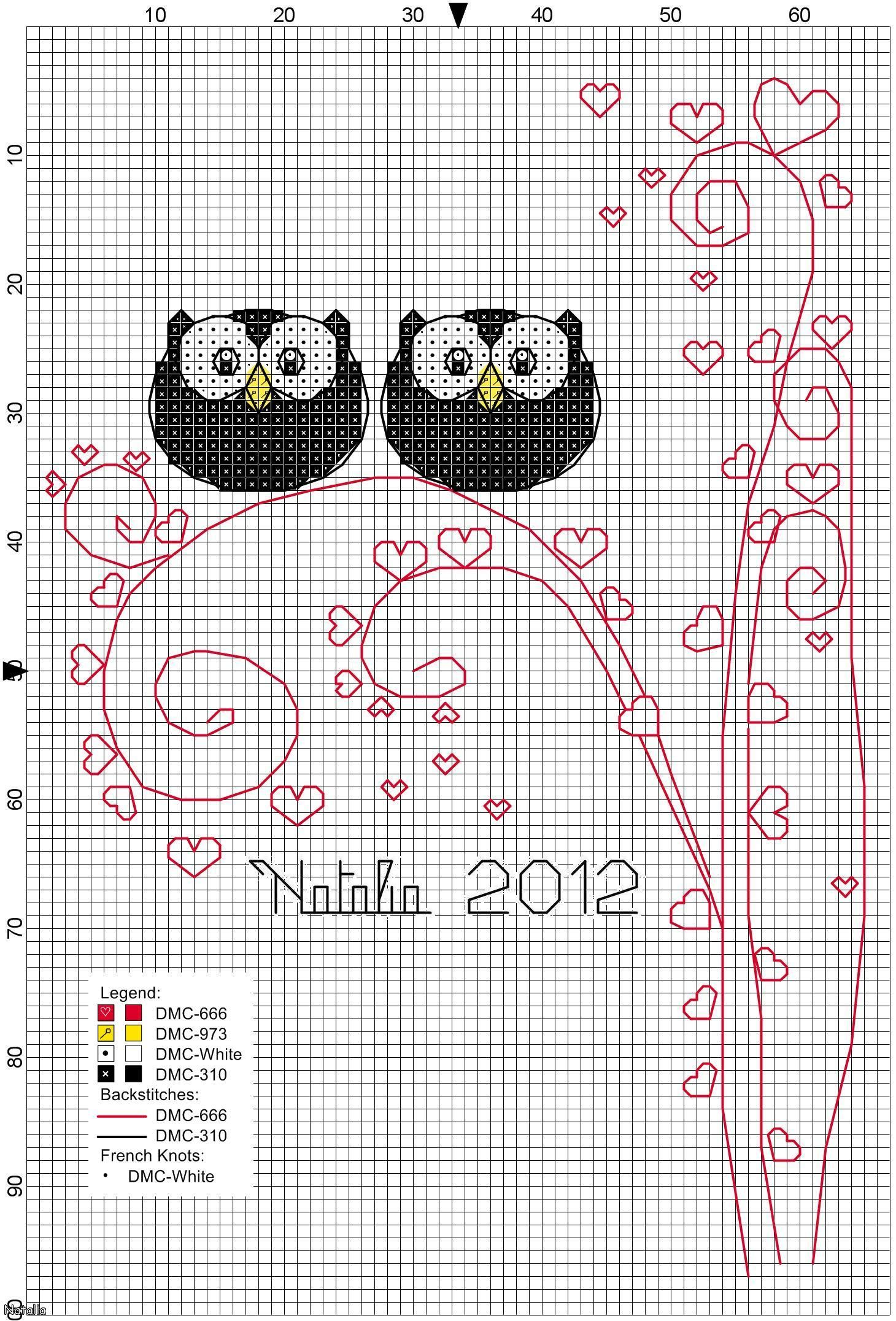 Owls! How adorable is this?!?! Cross Stitch Pattern free | Cross ...