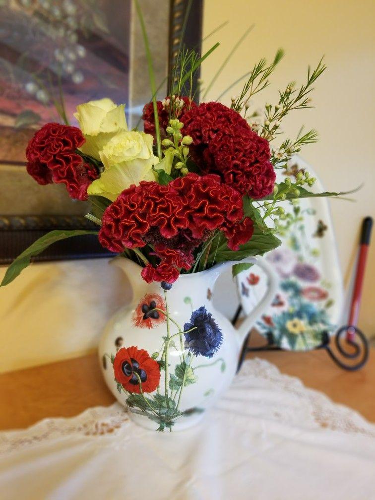 Flower Arrangement In Pitcher By Melba Melbasflowers Melbas