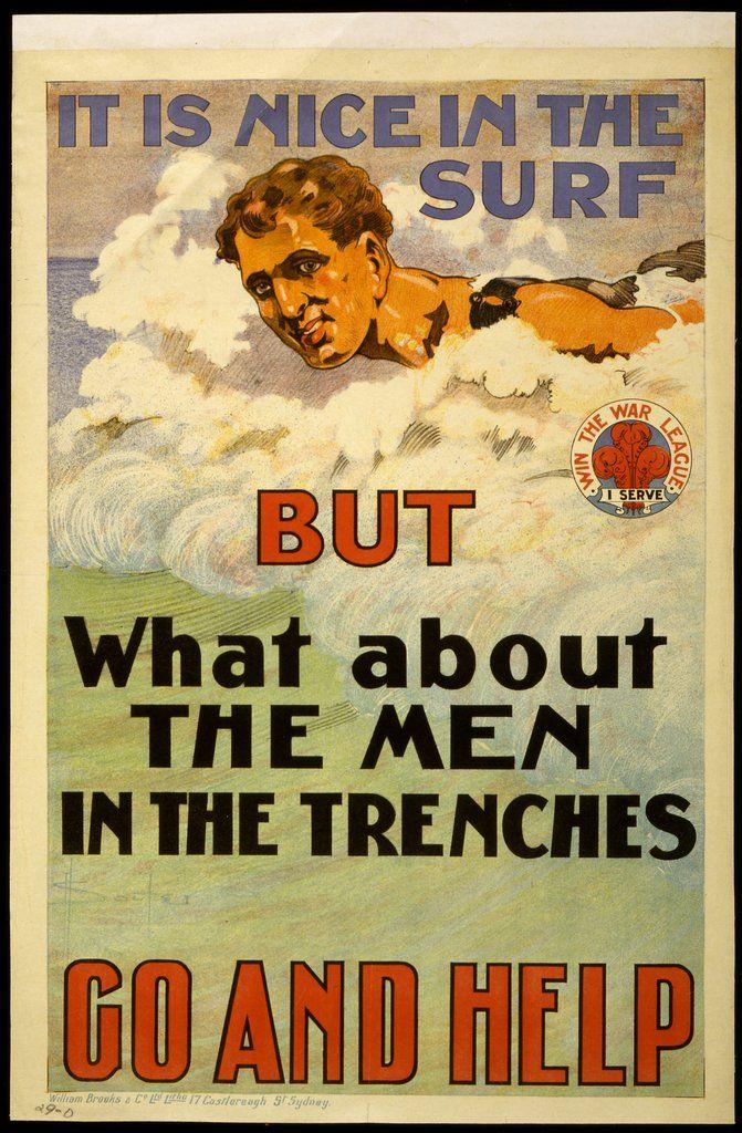 La playa es agradable, pero ¿qué pasa con los hombres en las trincheras? Ve y ayuda — Visor — Biblioteca Digital Mundial