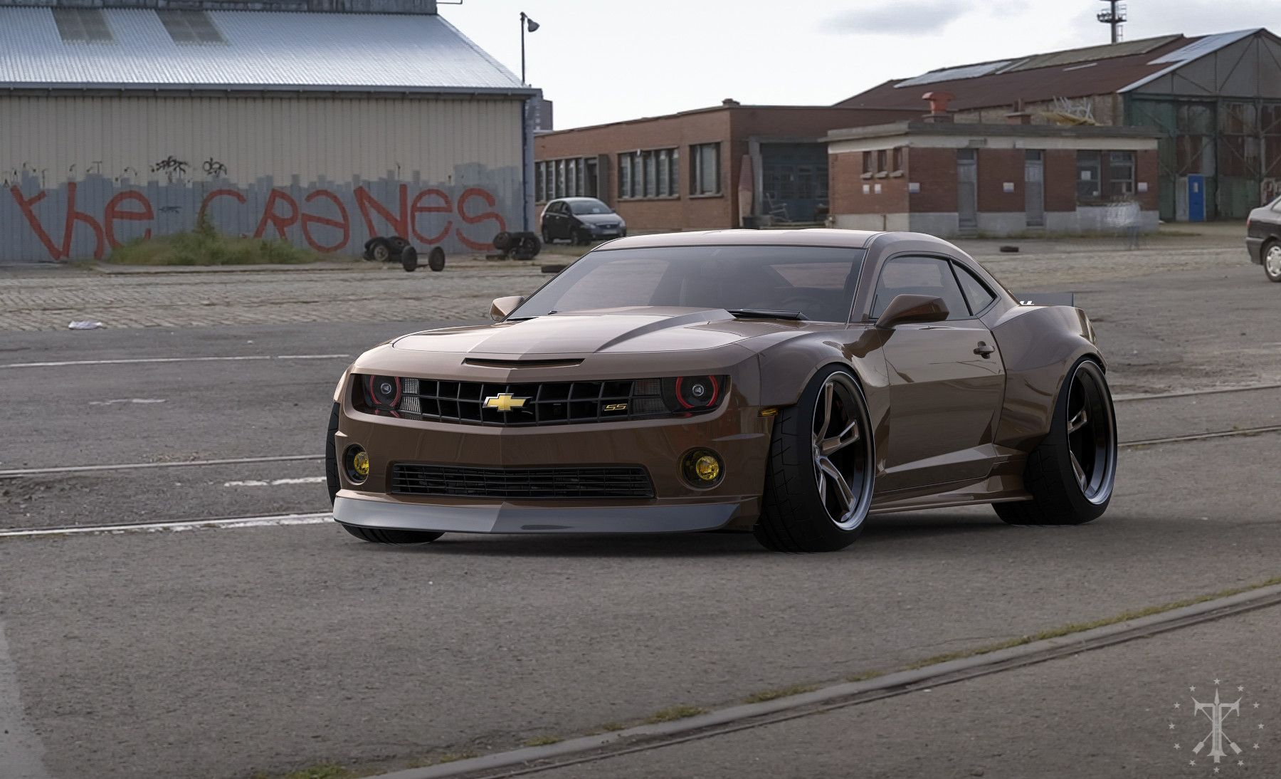 Widebody kit for Chevy Camaro  Modeling and visualization of body