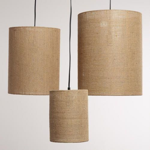 Irving Burlap Lamp Shades Set Of 3 Luminarias Artesanais
