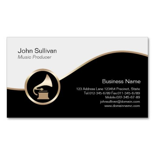 Music producer business card gold gramophone icon music themed music producer business card gold gramophone icon colourmoves