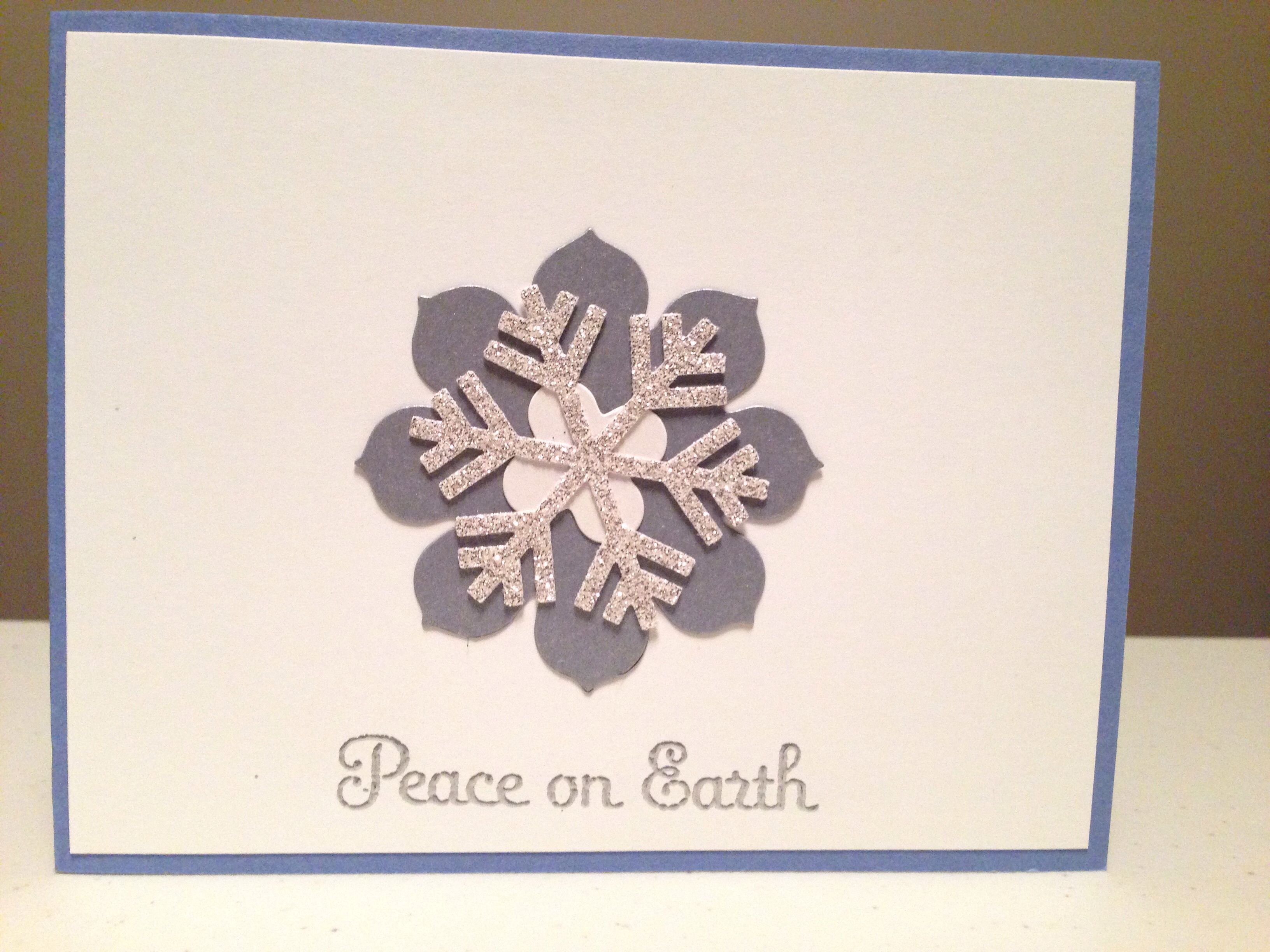Stampin\' Up! Christmas card idea. Shimmery white, brushed silver and ...