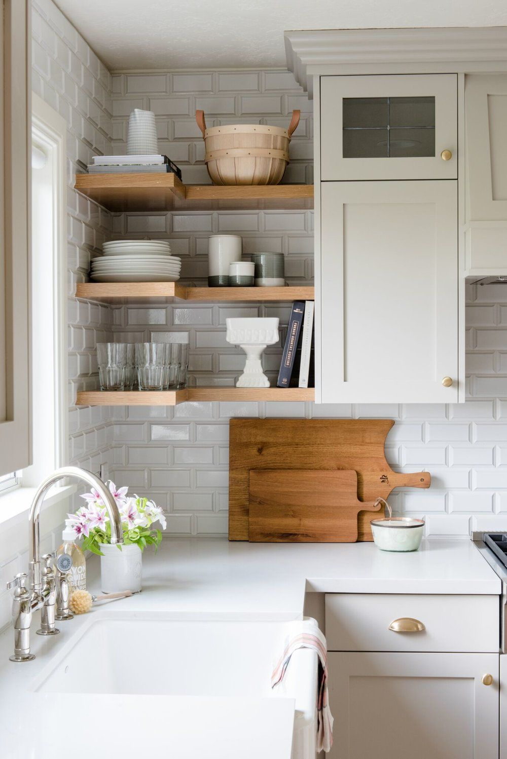 Loving these rad kitchen shelves floating shelves just add such a lovely tone to the atmosphere to beautify your life hop online and shop with shelfology