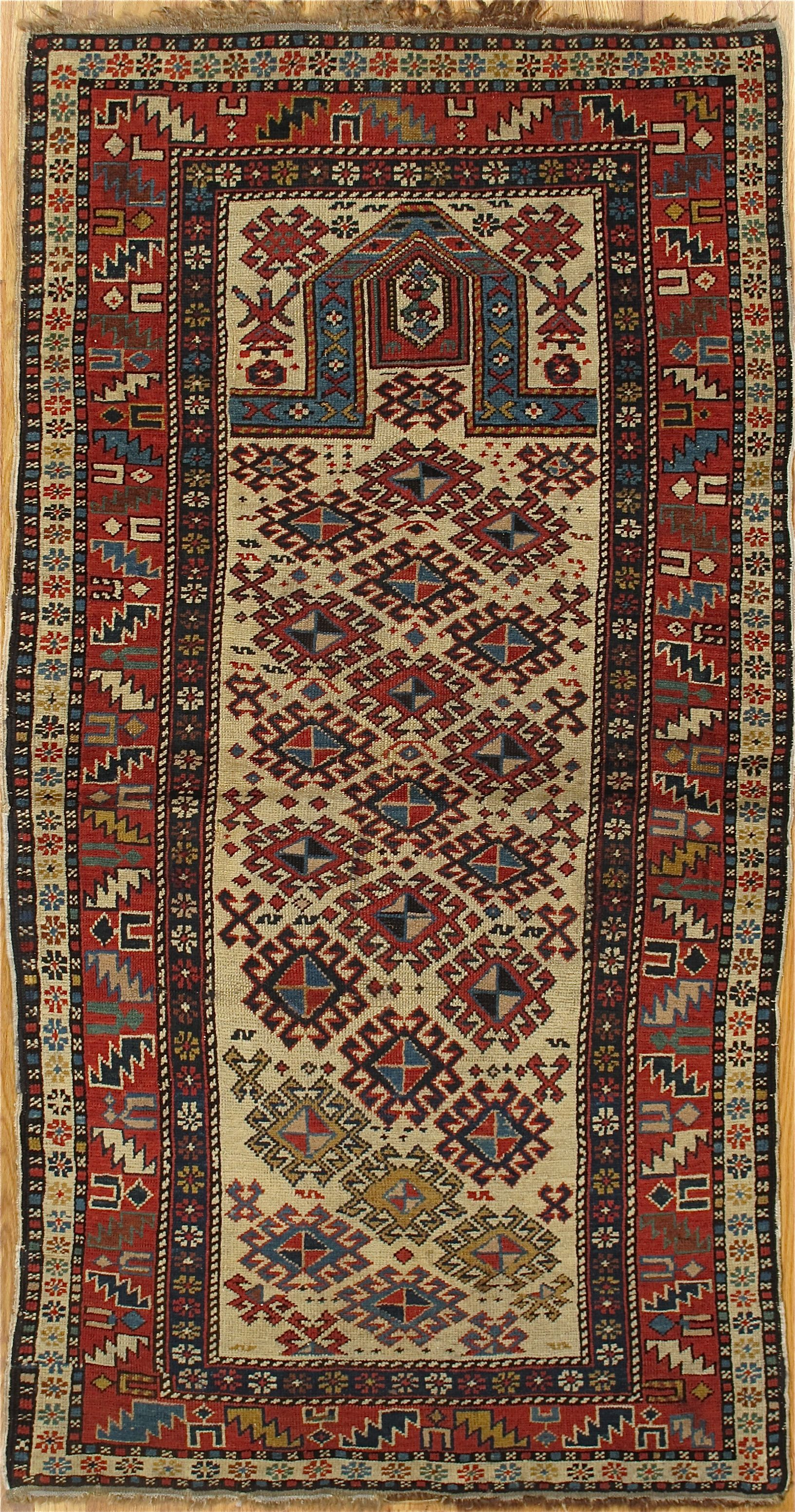 Shirvan Prayer Rug From Eastern Caucasus Age Circa 1880 Size 5