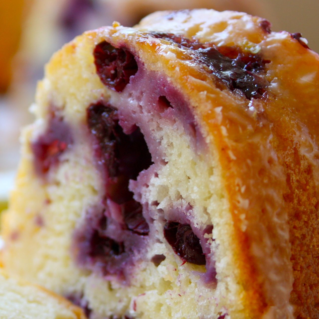 Low fat lemon blueberry cake