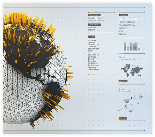 UI › WebGL Infographics by Leo Rabelo, via Behance