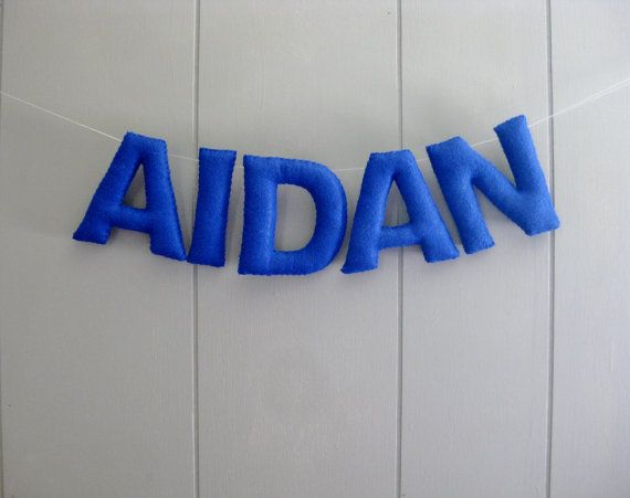 Name Garland  Felt Nursery Letters  Personalized Banner  Custom