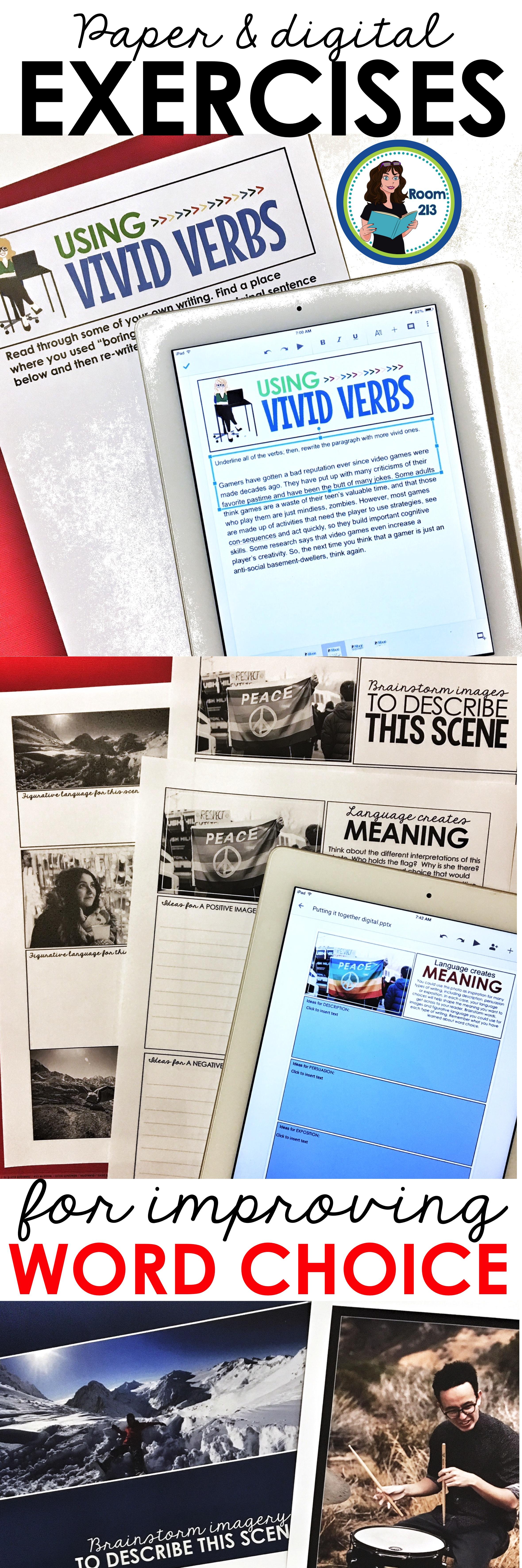 Writing Lessons: Word Choice | High School English | Writing