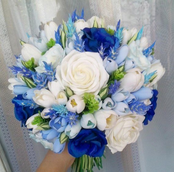 Freesia, eustoma, tulip, rose, lavender bridal bouquet. Blue and white wedding bouquet  - Brautsträuße - #blue #Bouquet #Brautsträuße #Bridal #eustoma #Freesia #lavender #Rose #tulip #wedding #white #whitebridalbouquets